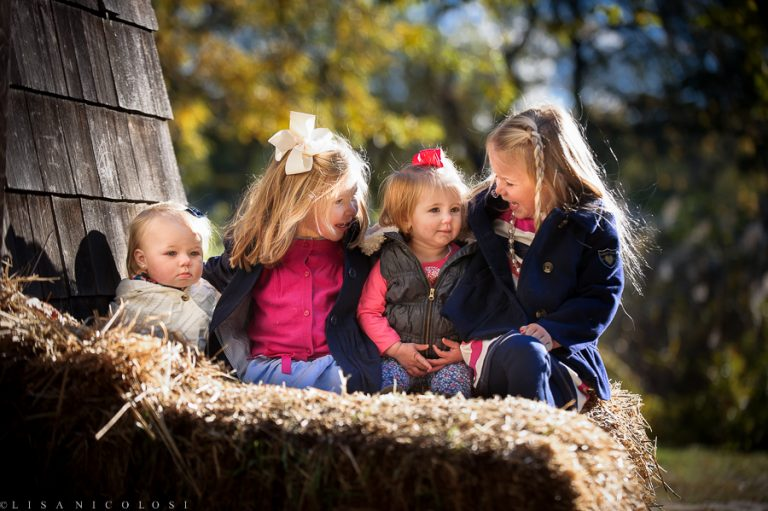 Three Adorable Sisters and Their Precious Cousin | Long Island Fall Photo Children Portraiture Session
