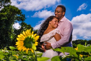 North Fork Sunflower Engagement Session