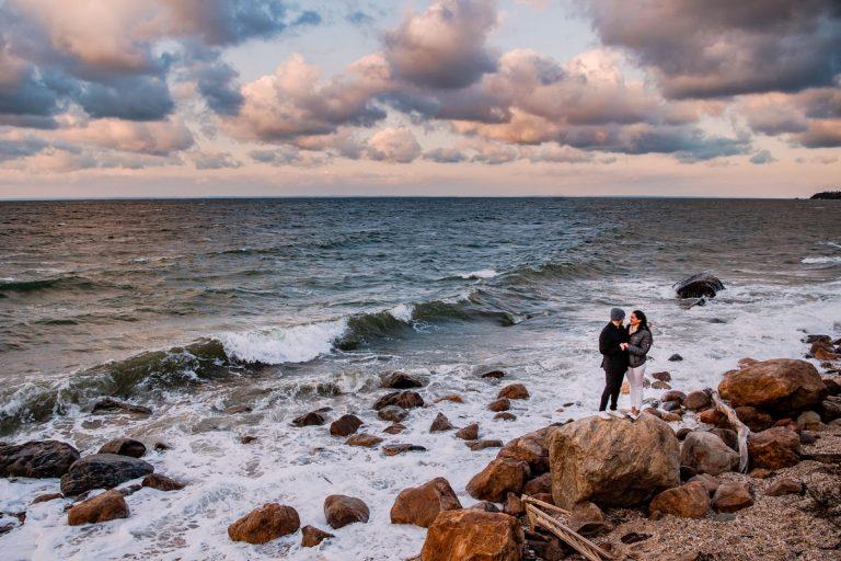Greenport Proposal Photographer | Jason and Martha
