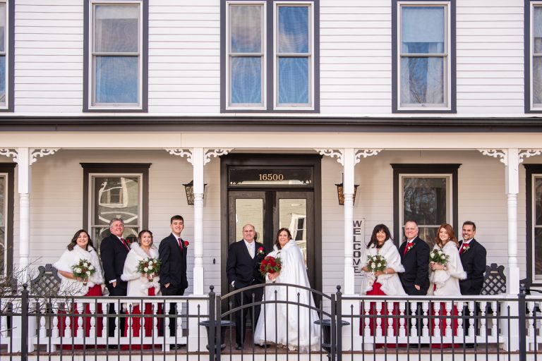 Jamesport Manor Inn Wedding | The Whitecap | Christmas Themed Wedding