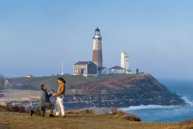 Montauk Lighthouse Proposal Photographer